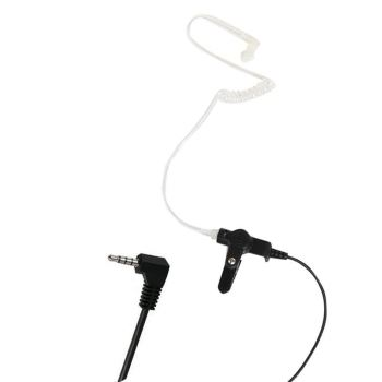 Acoustic Tube Listen Only Earpiece With 3.5mm Right Angle Jack Plug