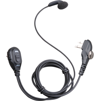Hytera PD400 PD500 Series Earbud with In-line PTT and Volume Control