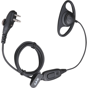 Hytera PD400 PD500 Series D-Style Earpiece With In-line PTT and Mic