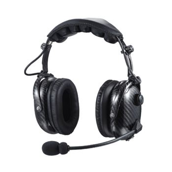 Carbon Fibre Lightweight Noise Cancelling Headset With Boom Microphone and PTT Button