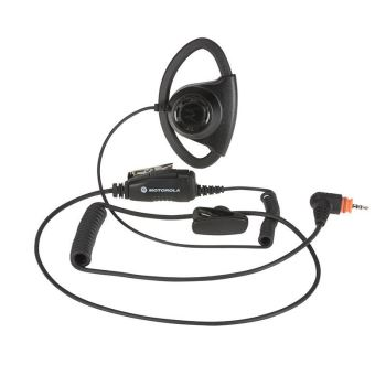 SL1600 SL2600 Adjustable D-Style Earpiece With In-Line Microphone (Black)