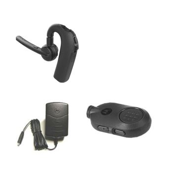 Motorola Bluetooth PTT Button and Wireless Earpiece Kit